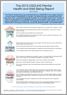 The 2015 OHDUHS Mental Health and Well-Being Report